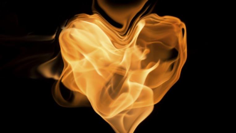 огън любов сърце