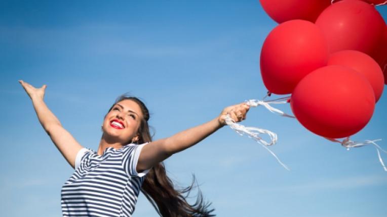 жена балон празник