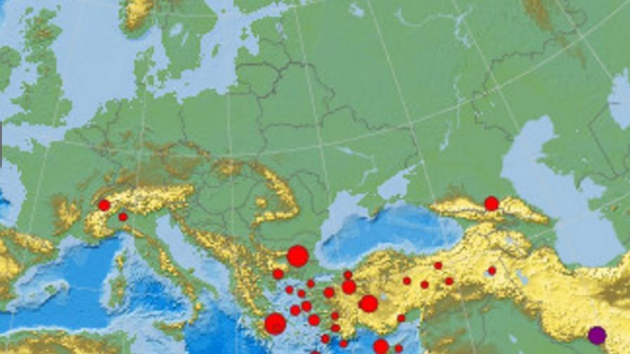 Земетресение в Гърция разлюля България и Македония