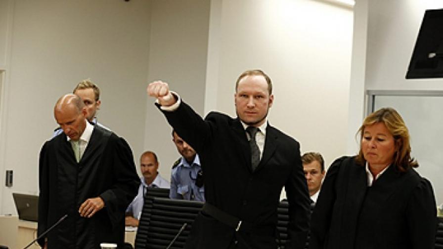 """Брайвик осъди Норвегия за """"нехуманно"""" отношение"""