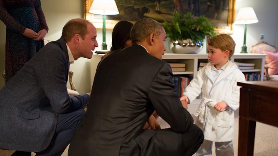 По халат и пантофи - така се говори с бъдещ крал и американски президент