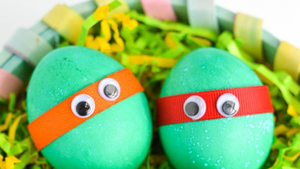 Великденски яйца като костенурките нинджа