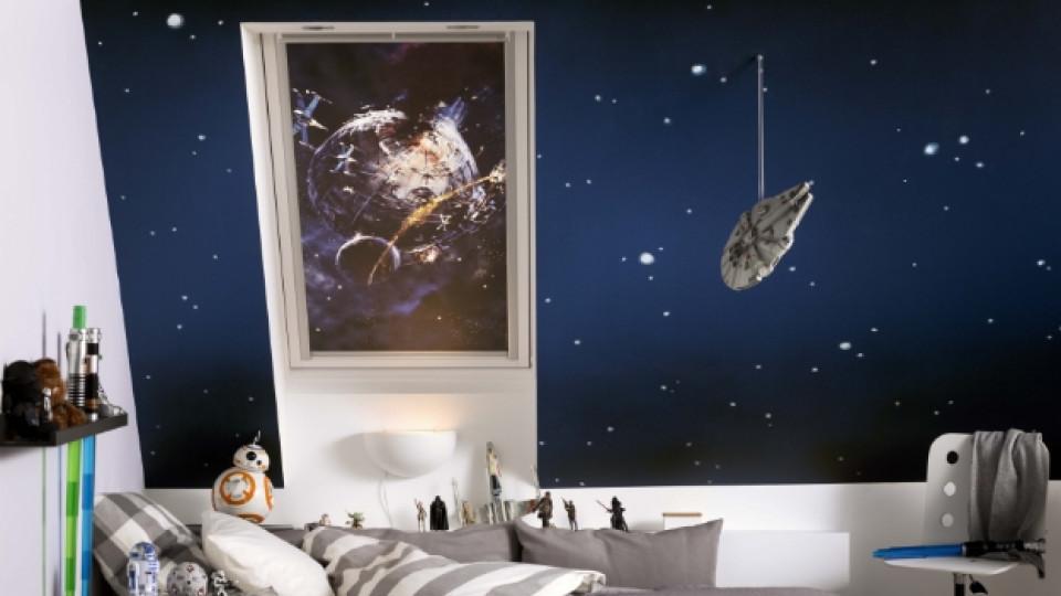 Галактическа колекция затъмнителни щори Star Wars & VELUX