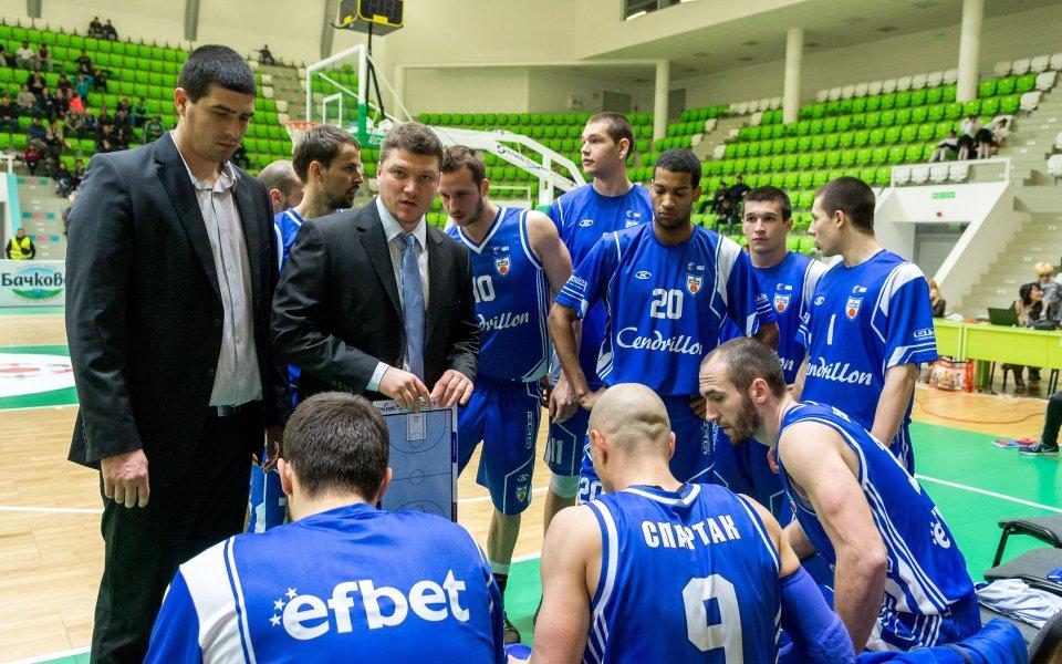 Спартак Плевен хвърли бомбата в баскетболното първенство
