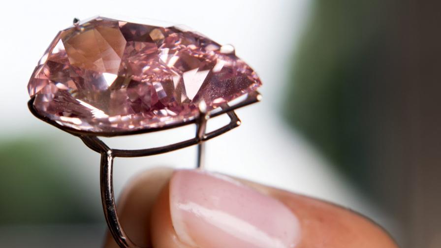 Вижте най-уникалния розов диамант в света (видео)
