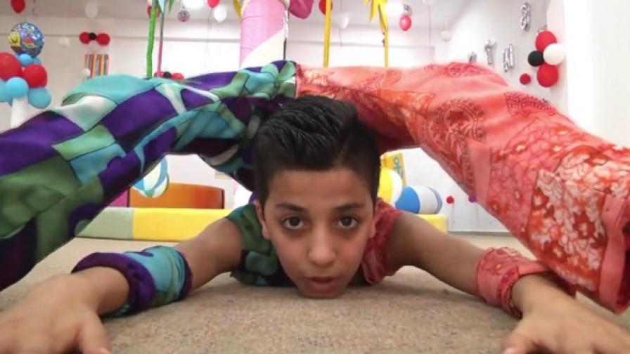 Запознайте се със Спайдърмен от Газа (видео)