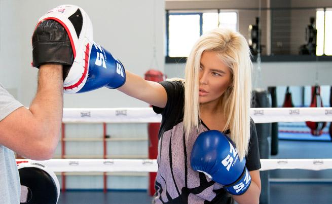 Да тренира бокс е едно от любимите занимания на певицата