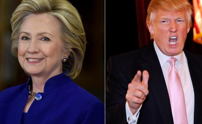 Хилари Клинтън и Доналд Тръмп
