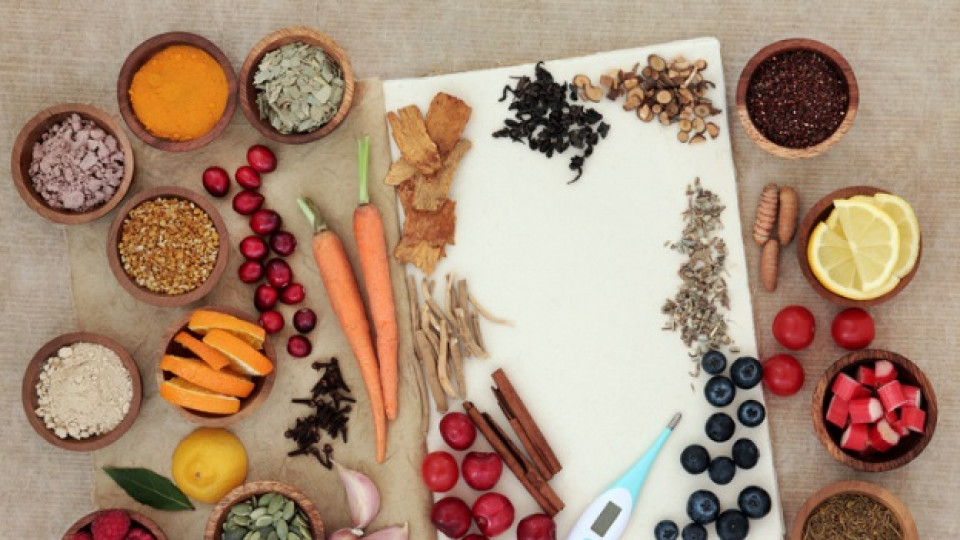 термометър зеленчуци плодове настинка