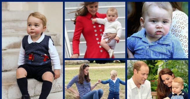 Принц Джордж навършва 5 години днес. По случай сладкия празник,