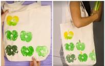 Как да си направите чанта със свеж ябълков принт