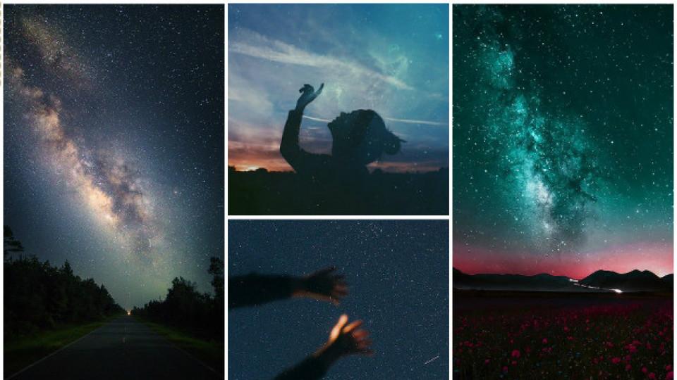 падащи звезди небе нощ звезди