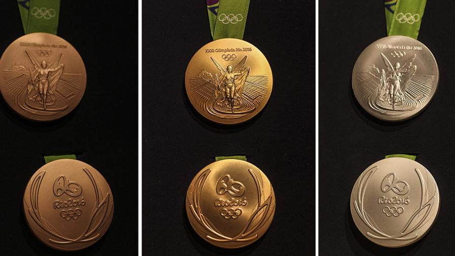 Златните медали в Рио - от 99 % сребро
