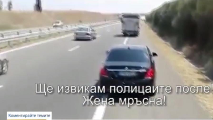 Шофьорът с 250 км/ч, който заплаши друг, с 50 нарушения на пътя
