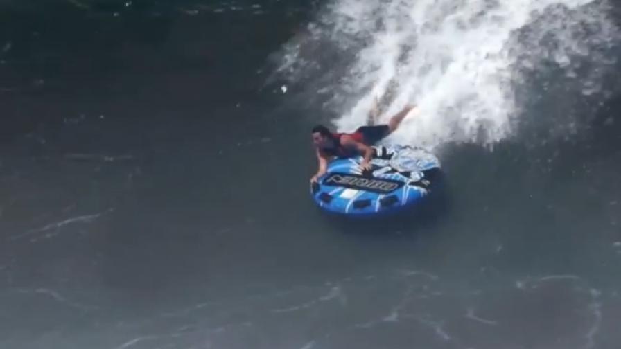 Да се изправиш срещу 6-метрова вълна без сърф