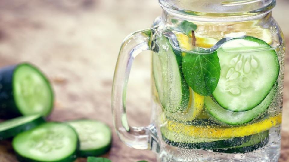 Вода с лимон, краставица и мента - здравословна алтернатива на лимонадата