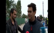 Президентът на Септември Румен Чандъров след победата над Берое