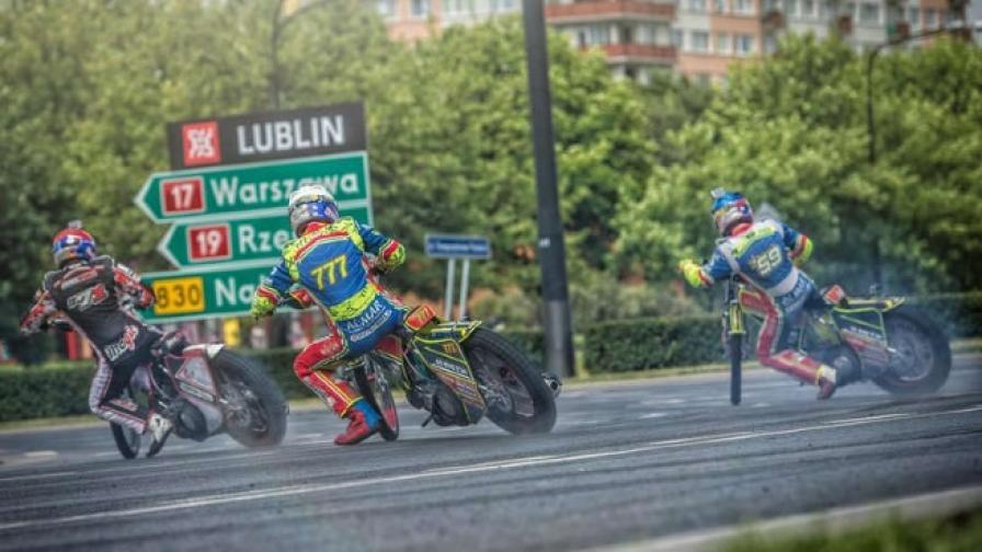 Състезание с мотори на улиците в Люблян