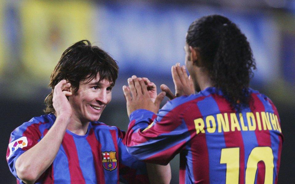 Вече бившата бразилска футболна суперзвезда Роналдиньо използва социалните мрежи, за