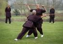 Монахините на Друкпа демонстрират кунг фу уменията си в Оксфорд