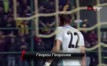 Спасяване на Георги Георгиев за Ботев срещу Левски