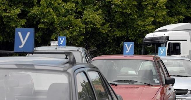 Снимка: Автошколите на протест