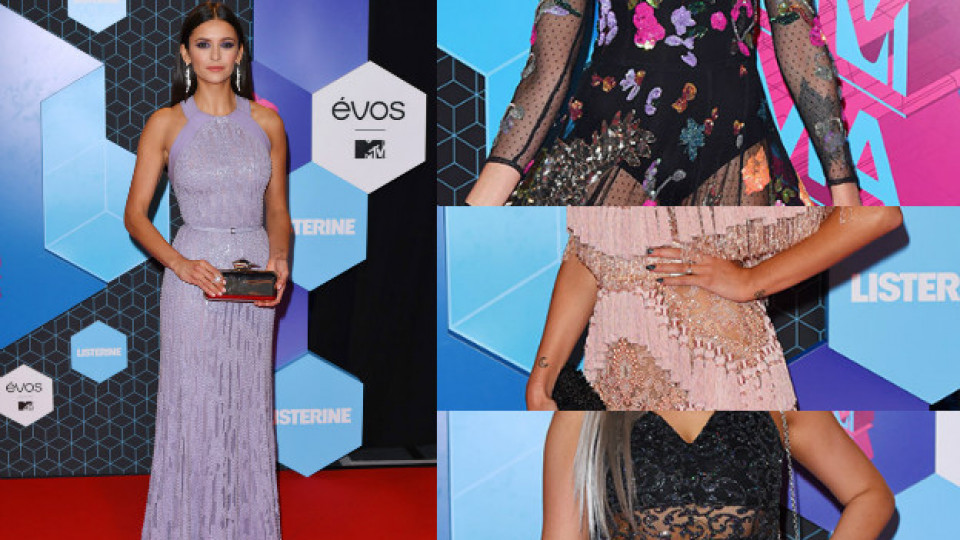 Бионсе - обсипана с пера, Нина Добрев - като невинна нимфа на наградите на MTV