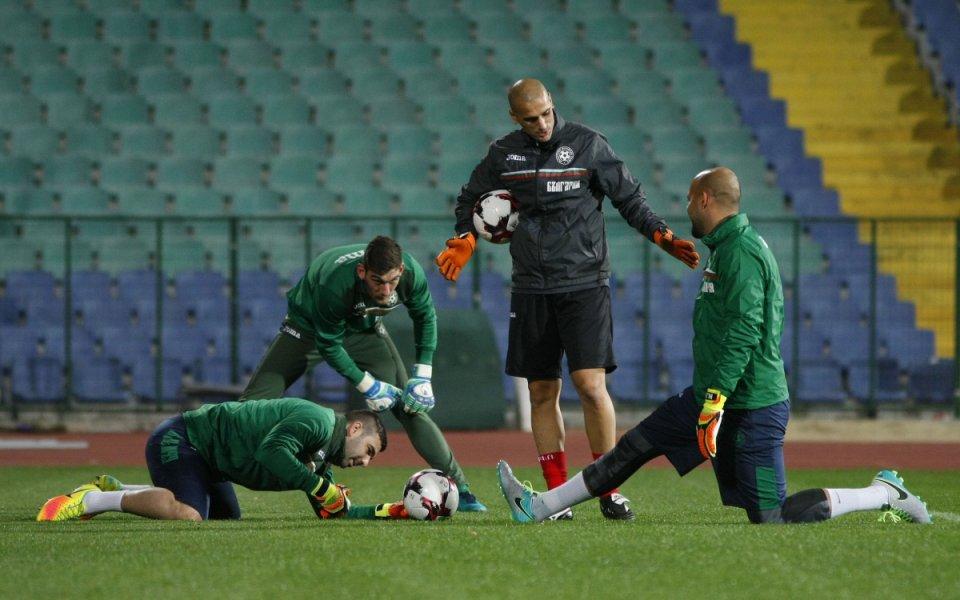 Националите с първа тренировка преди Беларус
