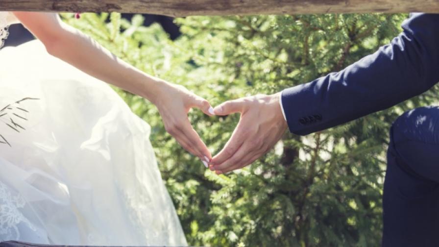 брак влюбени връзка