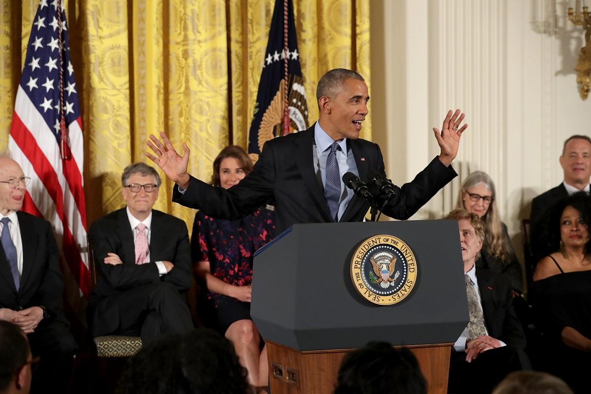 Барак Обама връчи Медалите на свободата в Белия дом