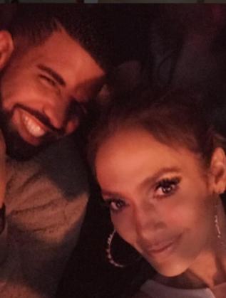 Дженифър Лопес и Дрейк след неин концерт в Лас Вегас