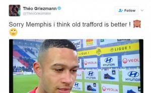 Гризман с любопитен намек към Ман Юнайтед
