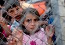 Момиченце в бежанския лагер в Газиантеп
