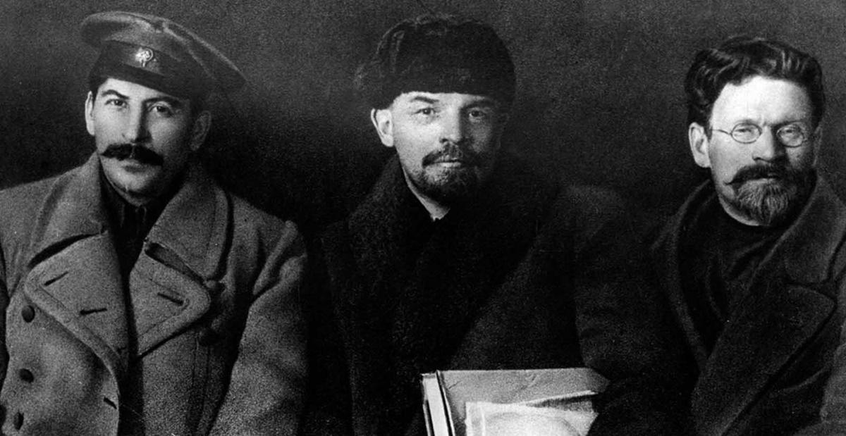 Сталин с Владимир Ленин и Михаил Калинин през 1919 г.