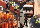 Испания: Полицията стреля по камион с газови бутилки