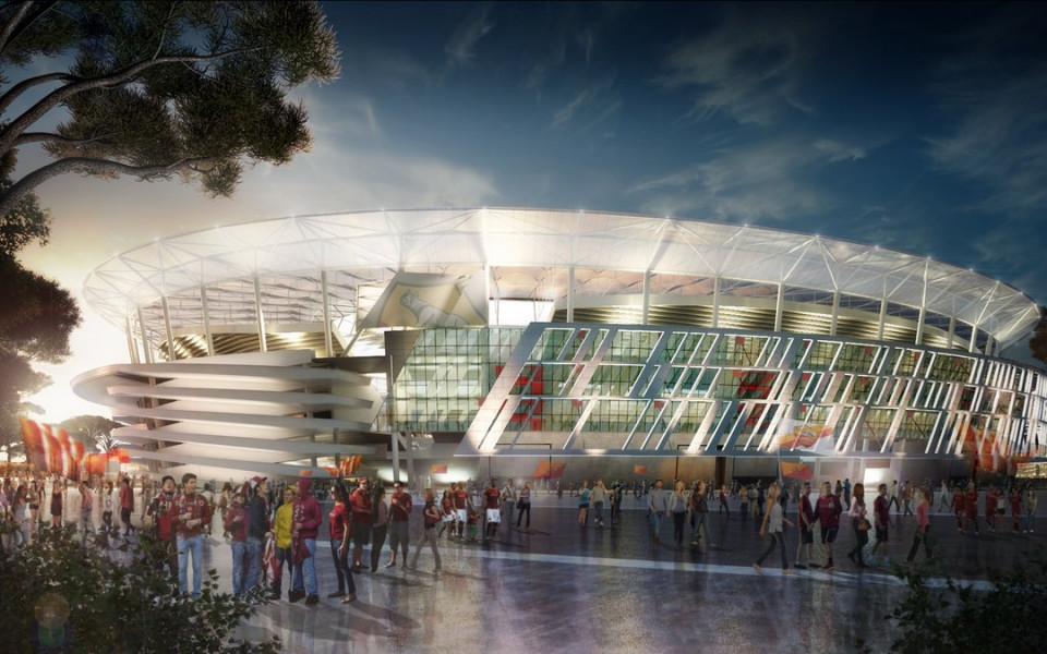 Арести за корупция спират строежа на новия стадион на Рома