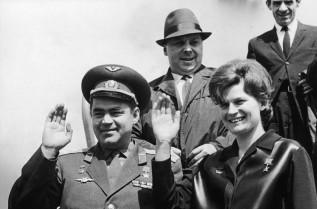 Валентина Терешкова и първият ѝ съпруг - Андриян Николаев