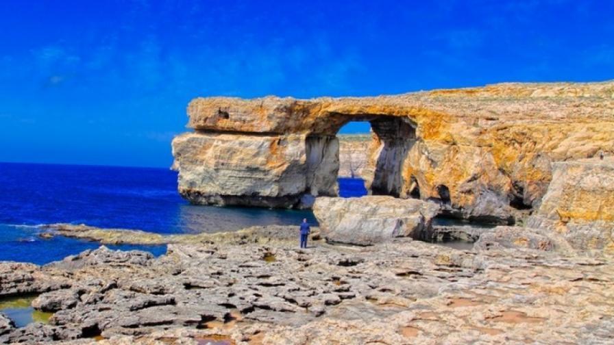 Срути се лазурната арка на о.Гозо в Малта