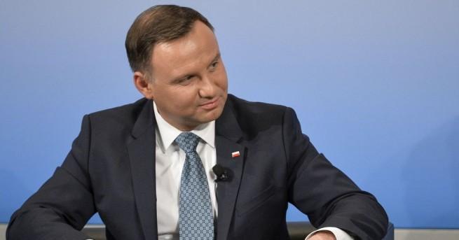 Анджей Дуда, досегашният полски президент, който бе преизбран вчера на