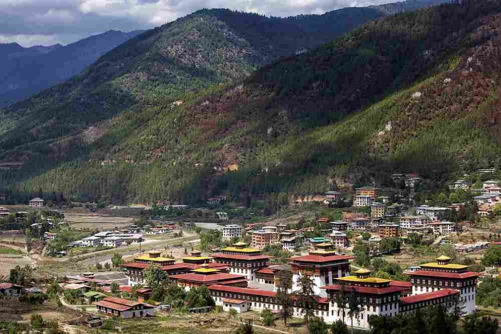 Изглед към Тхимпху - столицата на Бутан