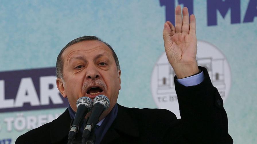 Реджеп Ердоган: Ще бъде по-лесно, ако ЕС отхвърли кандидатурата на Турция
