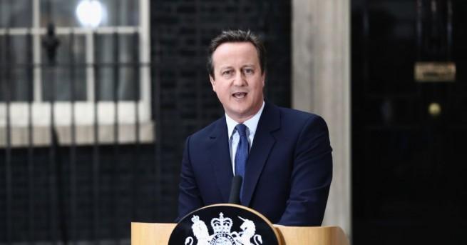 Бившият британски премиер Дейвид Камерън, който ще остане в историята