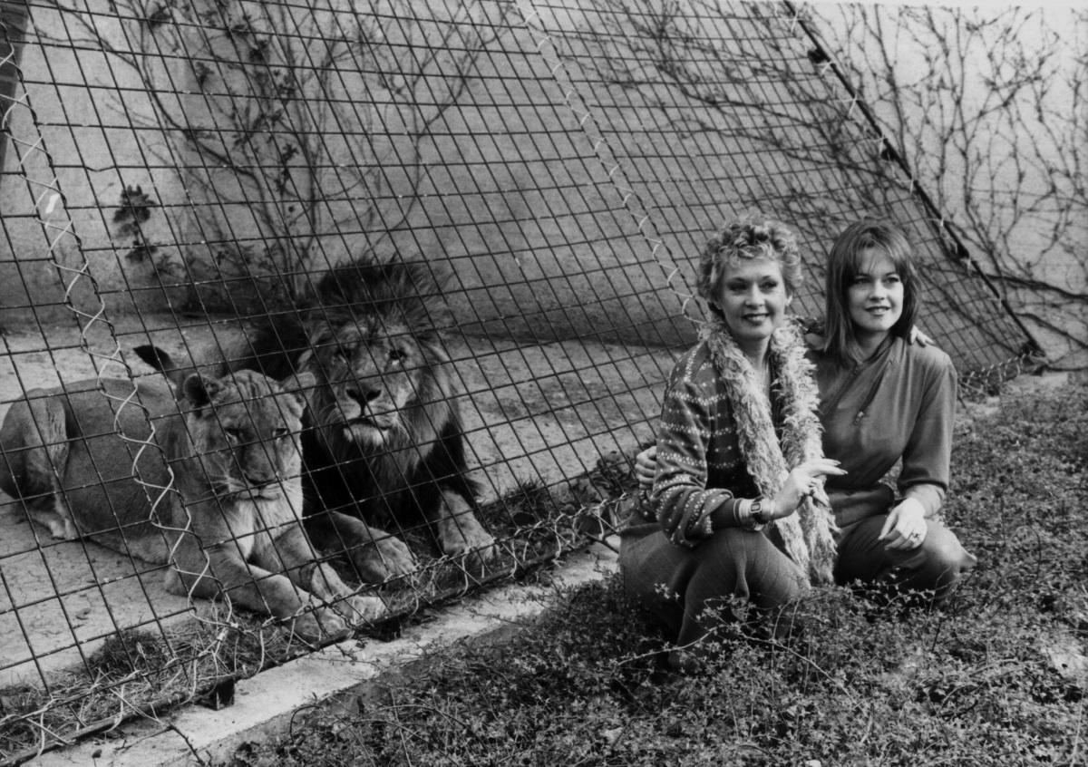 Мелани Грифит със своята майка Типи Хедрън (1982 г.)