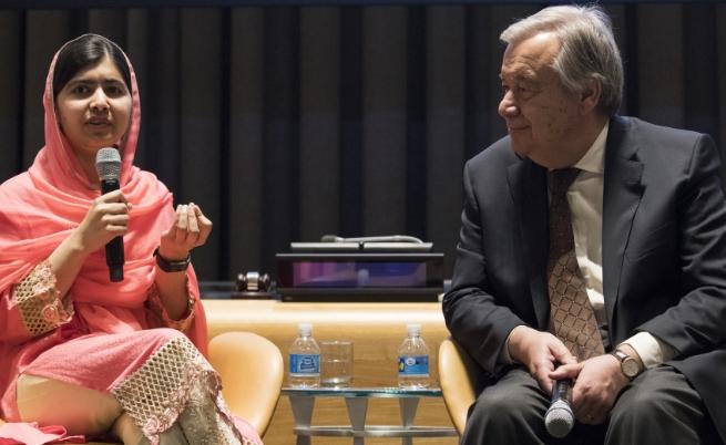 Малала Юсафзаи и Антониу Гутериш