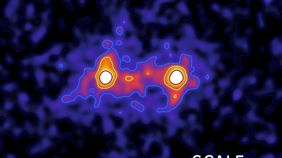 Първата снимка на тъмна материя