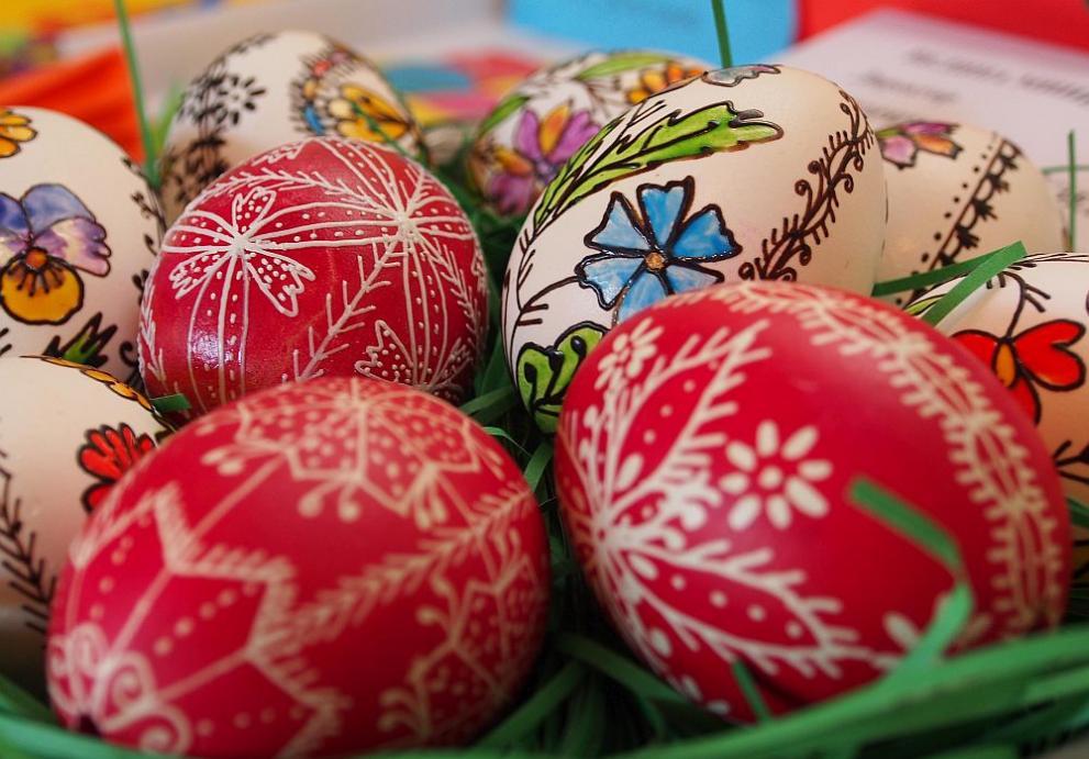 Красиви великденски яйца