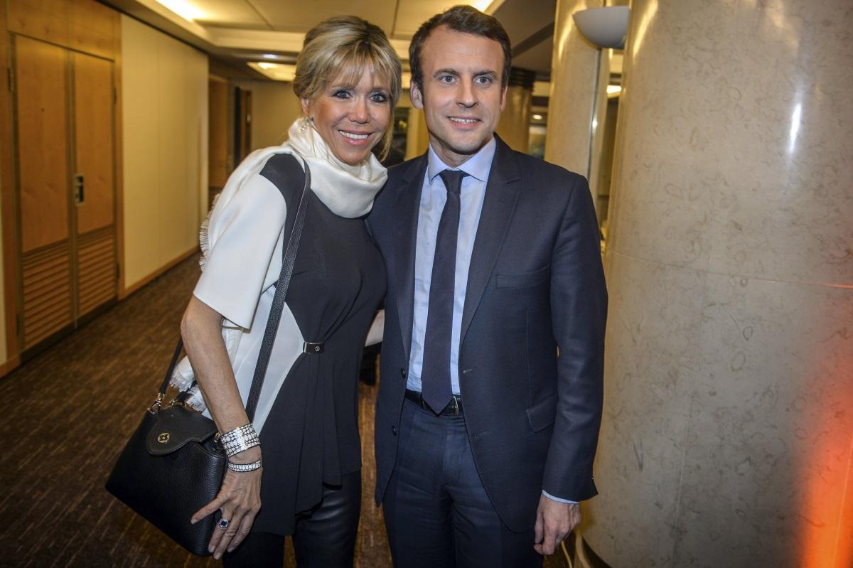 39-годишният Емануел Макрон и 24 години по-възрастната му съпруга Брижит Троньо