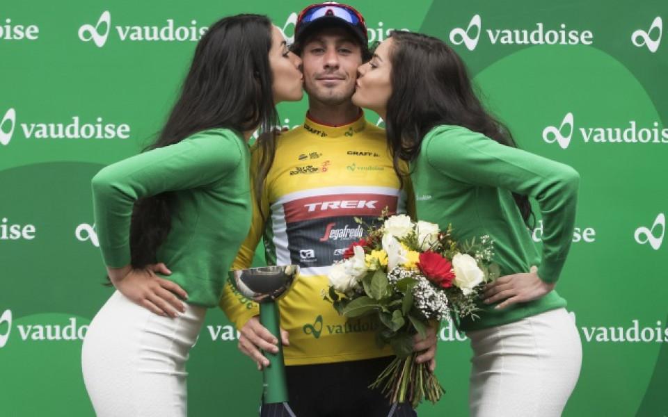 след спечелен етап на колоездачно състезание