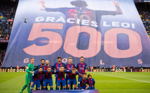 Феновете на Камп Ноу със страхотни почести за своя футболен Бог