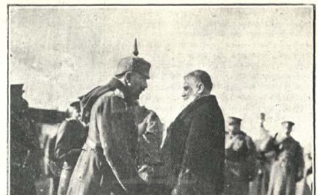 Кайзер Вилхелм поздравява премиера Васил Радославов